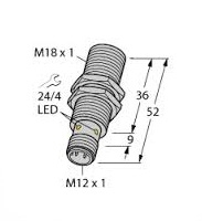 BI8-M18-AP6X-H1141 Turck Czujnik indukcyjny
