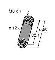 B5133-0 Turck Złącze rozbierane M8