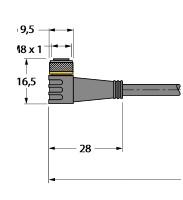 PKW3M-2/TXL Turck Przewód
