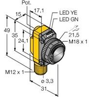 QS18VP6DQ8 Turck Czujnik fotoelektryczny